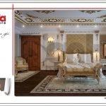 Thiết kế nội thất phòng ngủ VIP 1 biệt thự lâu đài 3 tầng mặt tiền rộng tại Quảng Ninh sh btld 0027