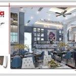 Mẫu phòng ăn nhà hàng 2 tầng kiến trúc Pháp sang trọng tại Phú Quốc sh bck 0045