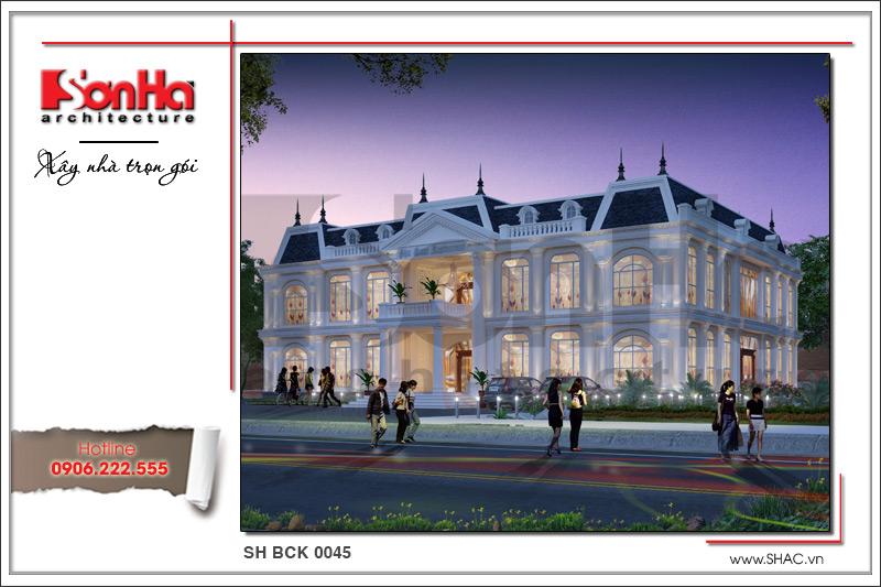 BÌA Thiết kế kiến trúc nhà hàng 2 tầng kiến trúc Pháp sang trọng tại Phú Quốc sh bck 0045