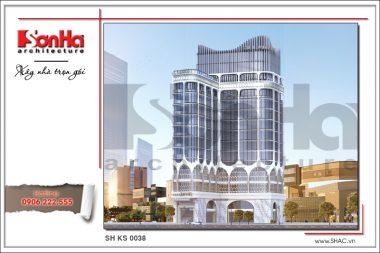 BÌA Thiết kế kiến trúc khách sạn hiện đại tại Đà Nẵng SH KS 0038