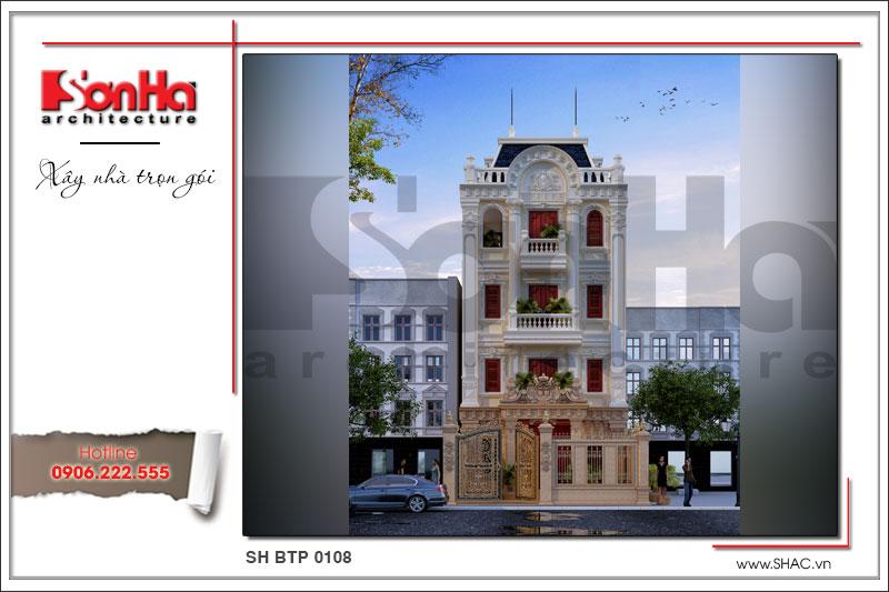 BÌA Thiết kế biệt thự Pháp tại Nam Định sh btp 0108