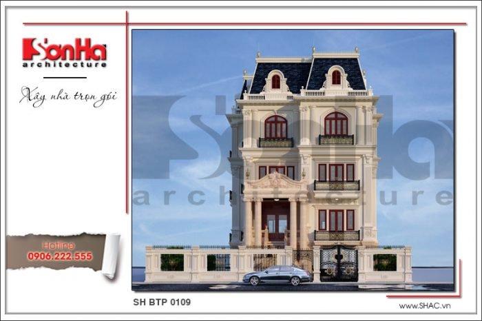 Thiết kế biệt thự Pháp đẹp và chuẩn nhờ sử dụng công cụ thước Lỗ Ban trong đo đạc xây dựng