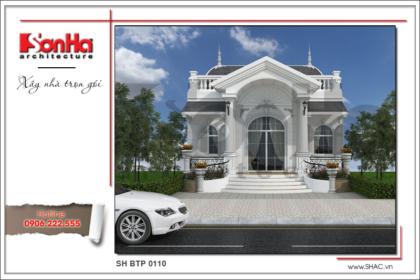 BÌA Thiết kế kiến trúc mặt tiền biệt thự mini tại Hà Nội sh btp 0110