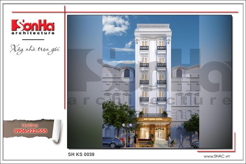 BÌA Mẫu thiết kế kiến trúc khách sạn mini kiến trúc Pháp tại Hải Phòng sh ks 0039