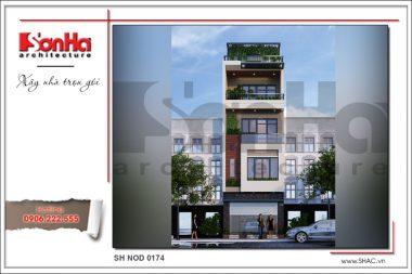 BÌA Mẫu kiến trúc nhà ống hiện đại tại Hà Nội sh nod 0174