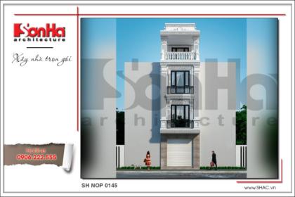 BÌA Thiết kế kiến trúc nhà ống kiến trúc Pháp 4 tầng mặt tiền hẹp tại Hải Phòng sh nop 0145
