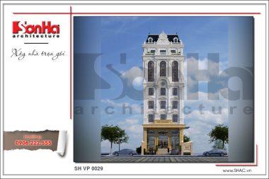 Phương án thiết kế tòa nhà văn phòng kiến trúc Pháp  sang trọng tại Sài Gòn – SH VP 0029 11