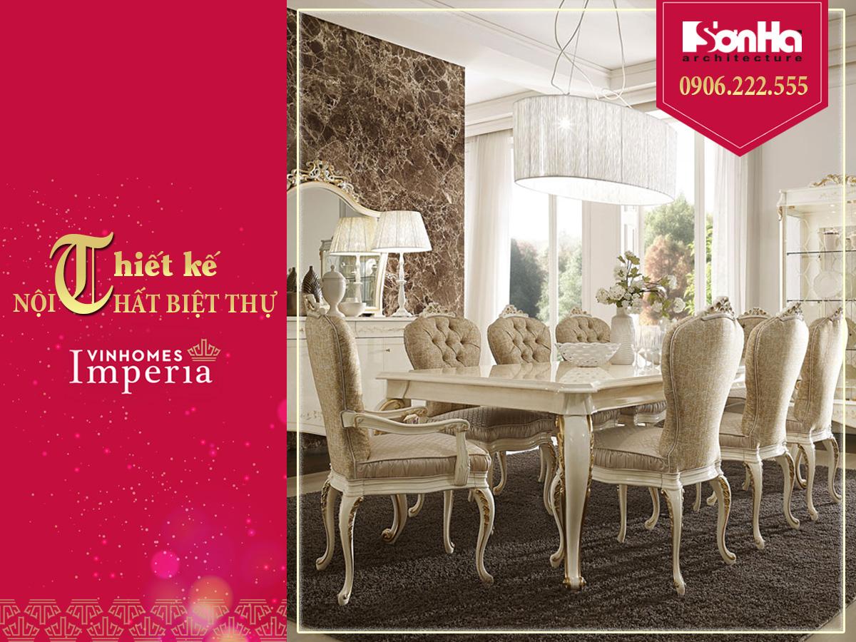 thiết kế nội thất phòng ăn cổ điển