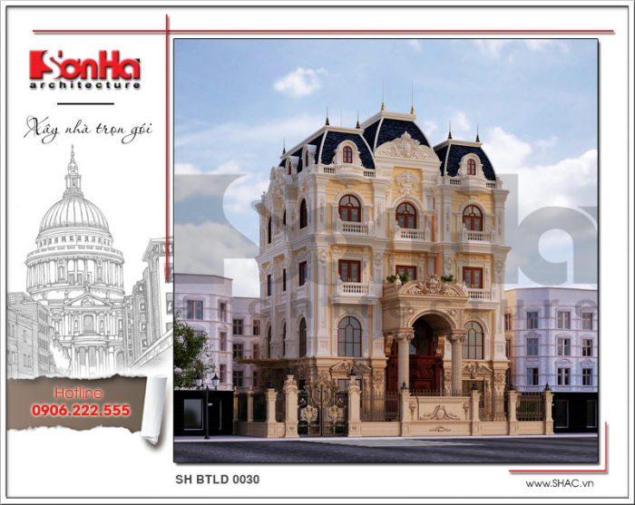 Mẫu Thiết kế kiến trúc biệt thự lâu đài tại Hà Nội sh btld 0030