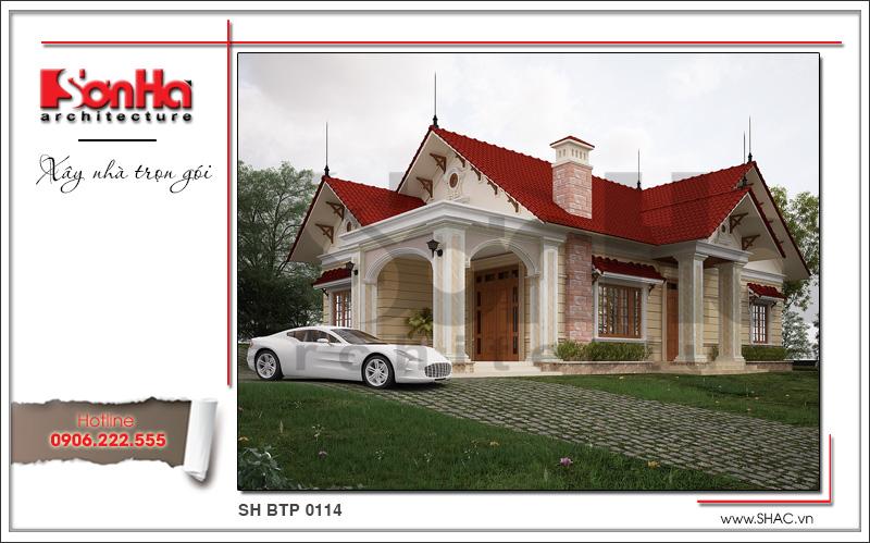 Ngôi biệt thự vườn mini thiết kế đẹp và sang rất được đánh giá cao
