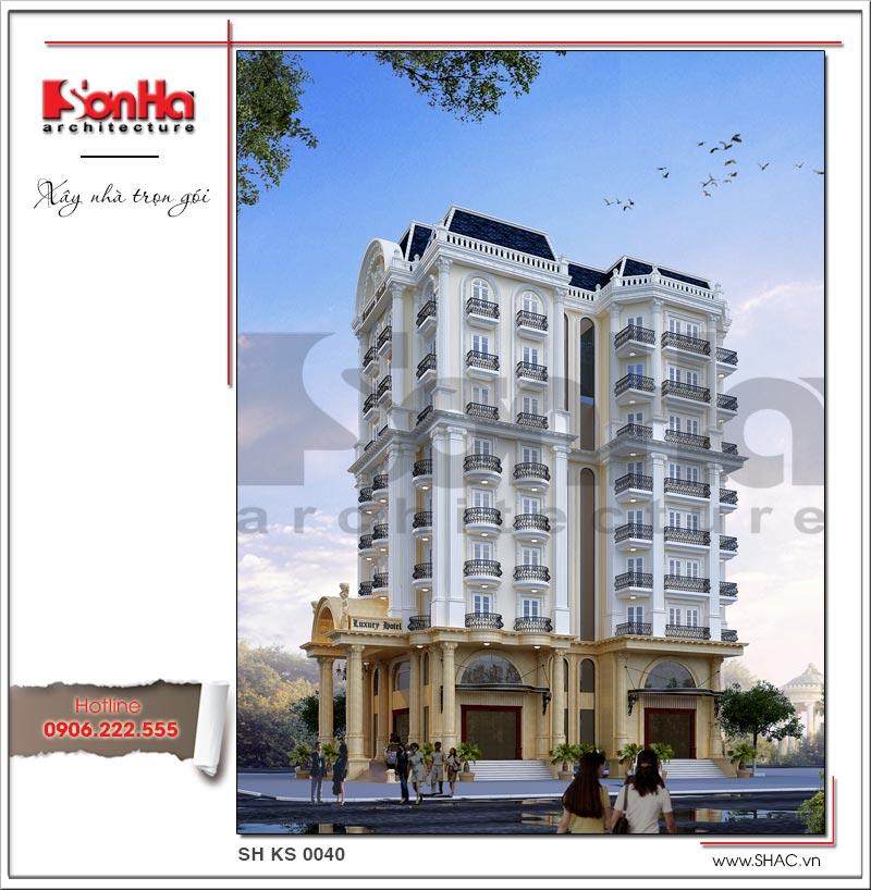 Kiến trúc sang trọng của mẫu thiết kế khách sạn tiêu chuẩn 4 sao đẳng cấp tại Vĩnh Yên