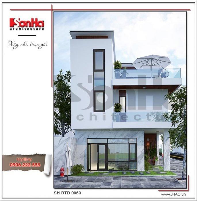 Thiết kế kiến trúc biệt thự hiện đại tại Lạng Sơn sh btd 0060