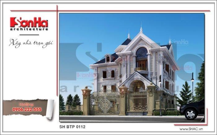 Thiết kế lạ mắt của ngôi biệt thự cổ điển 3 tầng tại Hà Nội điển hình xu hướng mới
