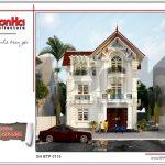 Thiết kế biệt thự Pháp mái ngói đỏ tại Hưng Yên sh btp 0115