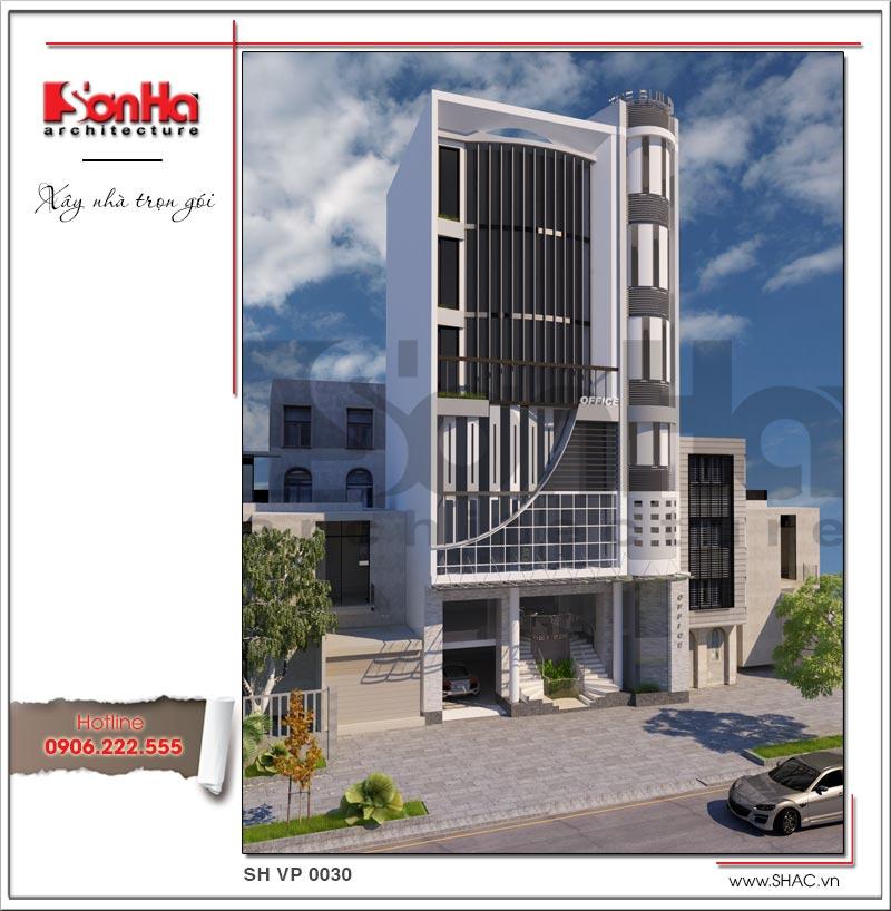 Khám phá mẫu thiết kế tòa nhà văn phòng hiện đại độc đáo tại Hà Nội – SH VP 0030 1