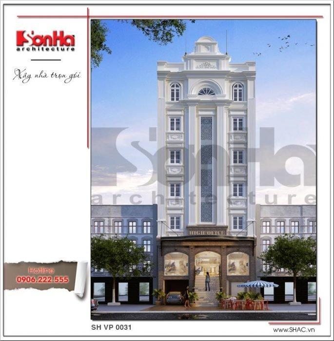 Thiết kế kiến trúc tòa nhà văn phòng tại Sài Gòn sh vp 0031
