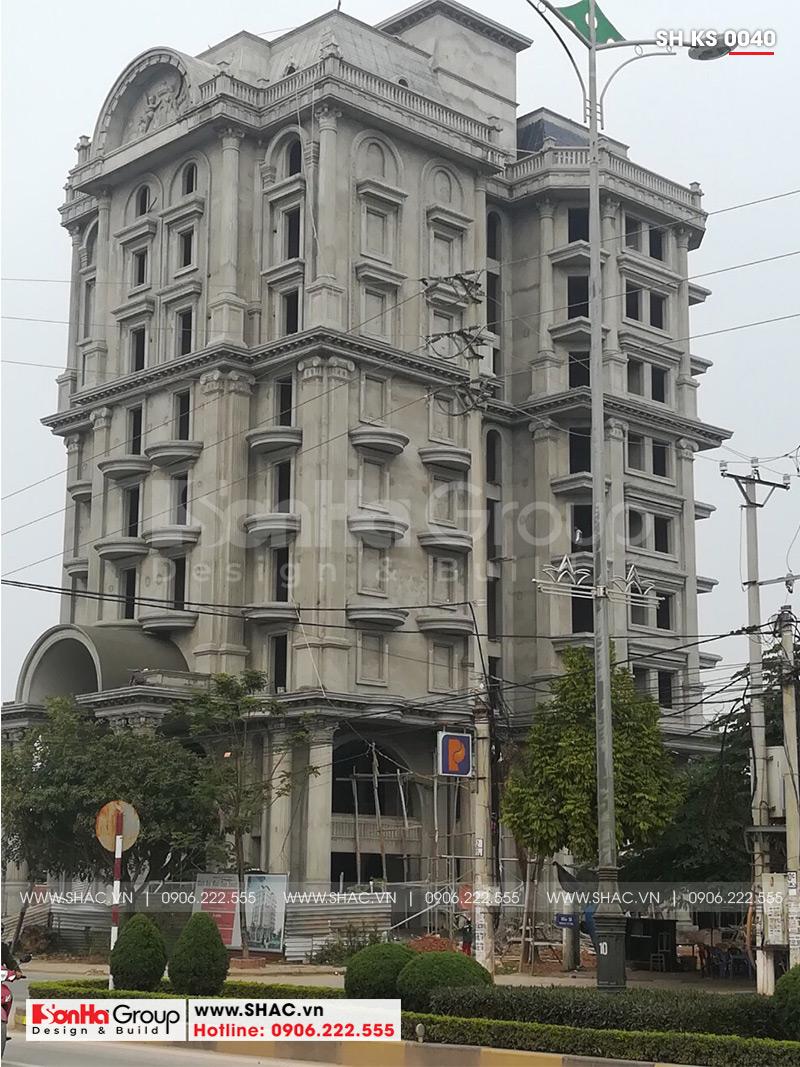 Mẫu thiết kế khách sạn kiến trúc Pháp tiêu chuẩn 4 sao sang trọng tại Vĩnh Yên – SH KS 0040 25