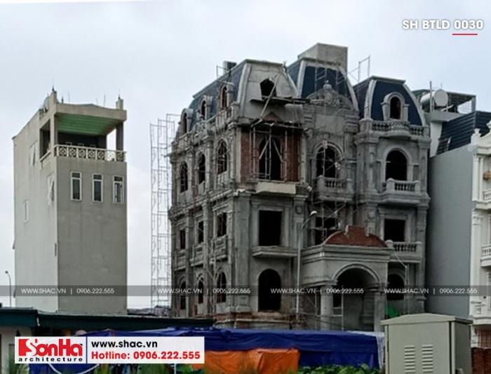 1 Ảnh thực tế thi công biệt thự lâu đài đẹp tại hà nội sh bltd 0030