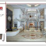 1 Thiết kế nội thất sảnh lễ tân khách sạn tại vĩnh yên sh ks 0040