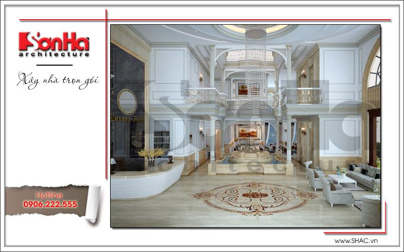 Mẫu thiết kế khách sạn kiến trúc Pháp tiêu chuẩn 4 sao sang trọng tại Vĩnh Yên – SH KS 0040 4