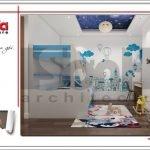 Mẫu nội thất phòng ngủ con trai biệt thự hiện đại tại Lạng Sơn sh btd 0060