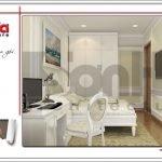 Mẫu Thiết kế phòng ngủ 1 nội thất biệt thự 3 tầng tại khu đô thị Vinhomes Nam Thăng Long, Hà Nội