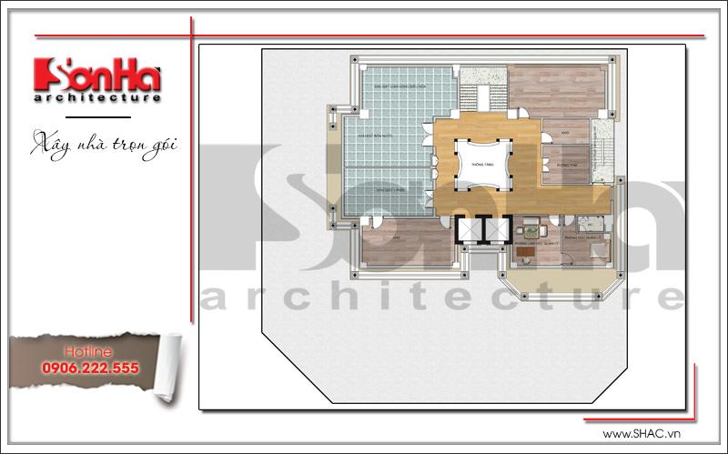 Mẫu thiết kế khách sạn kiến trúc Pháp tiêu chuẩn 4 sao sang trọng tại Vĩnh Yên – SH KS 0040 21