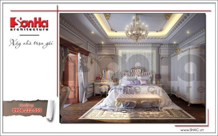 Mẫu Thiết kế Nội thất phòng ngủ biệt thự cổ điển Pháp tại Quảng Ninh sh btp 0113