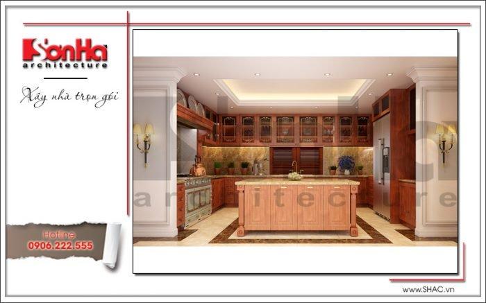 Thiết kế nội thất phòng bếp biệt thự lâu đài tại An Giang sh btld 0029
