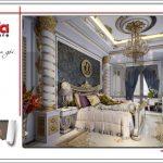 Mẫu Thiết kế nội thất phòng ngủ đẳng cấp biệt thự lâu đài tại Hà Nội sh btld 0030