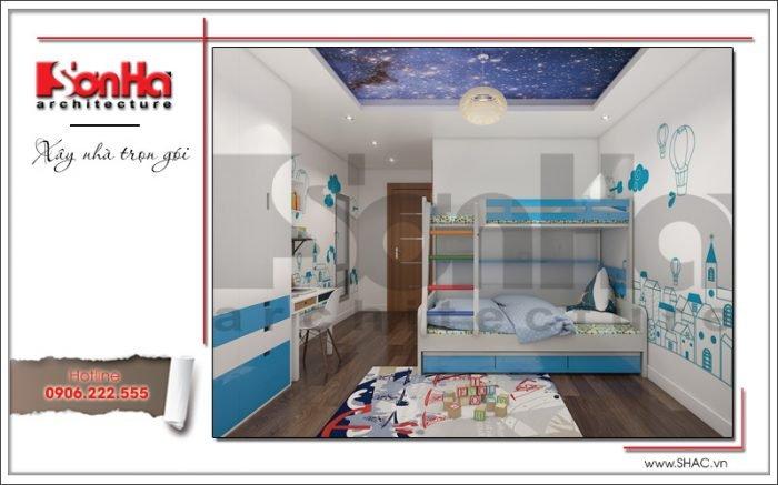 Thiết kế nội thất phòng ngủ con trai biệt thự hiện đại tại Lạng Sơn sh btd 0060