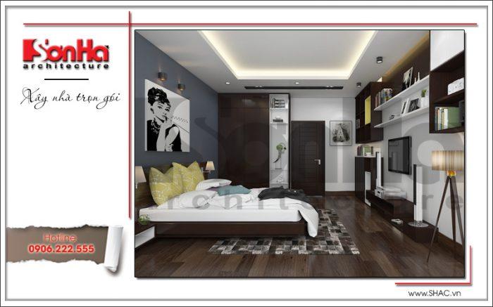 Mẫu Thiết kế nội thất phòng ngủ nhà ống hiện đại tại Hà Nội sh nod 0175