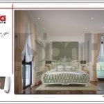 Mẫu Thiết kế phòng ngủ 2 nội thất biệt thự 3 tầng tại khu đô thị Vinhomes Nam Thăng Long, Hà Nội