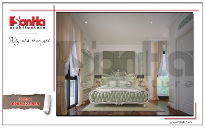 thiết kế thi công nội thất phòng ngủ biệt thự tại hà nội
