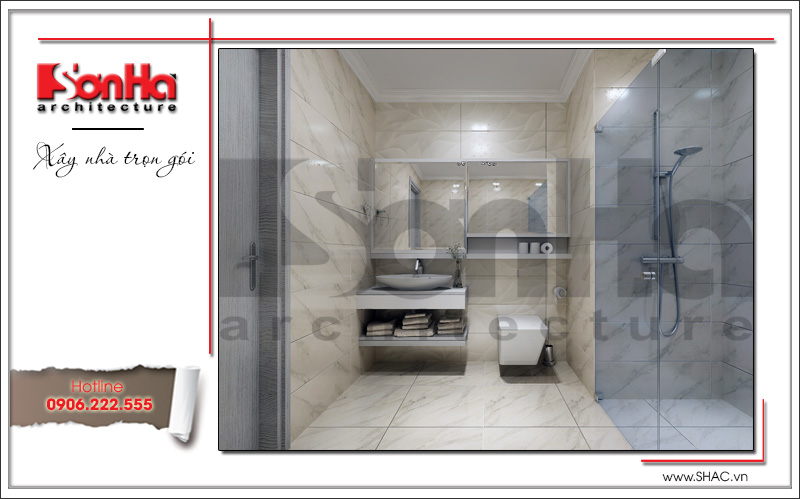 Mẫu thiết kế khách sạn kiến trúc Pháp tiêu chuẩn 4 sao sang trọng tại Vĩnh Yên – SH KS 0040 13