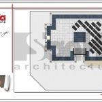 Mặt bằng công năng tầng mái khách sạn kiến trúc Pháp tại Vĩnh Phúc sh ks 0040