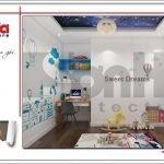 Mẫu Thiết kế nội thất phòng ngủ con trai biệt thự hiện đại tại Lạng Sơn sh btd 0060
