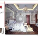 Thiết kế phòng ngủ biệt thự cổ điển Pháp tại Quảng Ninh sh btp 0113