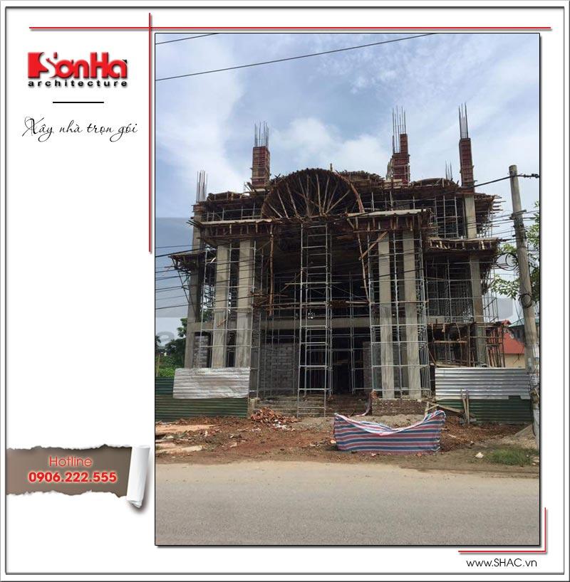 Mẫu thiết kế khách sạn kiến trúc Pháp tiêu chuẩn 4 sao sang trọng tại Vĩnh Yên – SH KS 0040 26