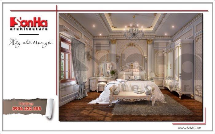 Mẫu Thiết kế phòng ngủ biệt thự cổ điển Pháp tại Quảng Ninh sh btp 0113