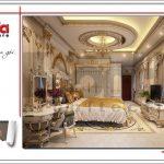 Thiết kế nội thất phòng ngủ đẹp biệt thự lâu đài tại Hà Nội sh btld 0030