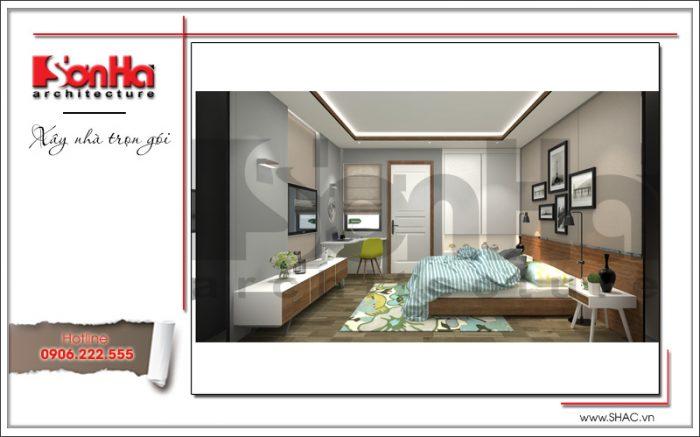 Thiết kế nội thất phòng ngủ nhà ống hiện đại tại Hà Nội sh nod 0175