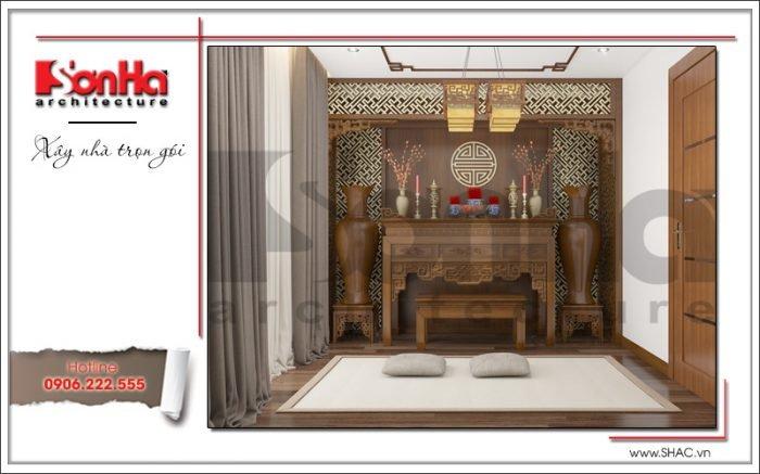 Thiết kế phòng thờ biệt thự hiện đại tại Lạng Sơn sh btd 0060