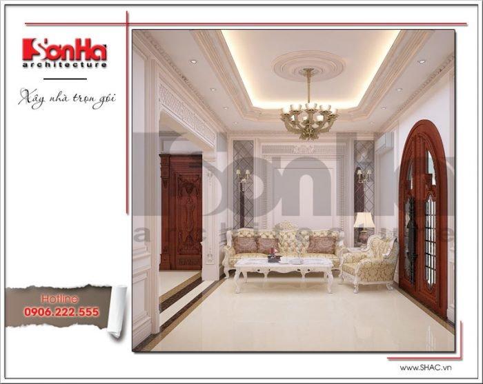 Thiết kế sảnh sinh hoạt chung biệt thự lâu đài tại An Giang sh btld 0029