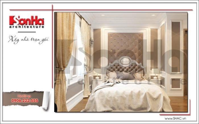 mẫu phòng ngủ cổ điển dành cho biệt thự vinhomes thăng long hà nội