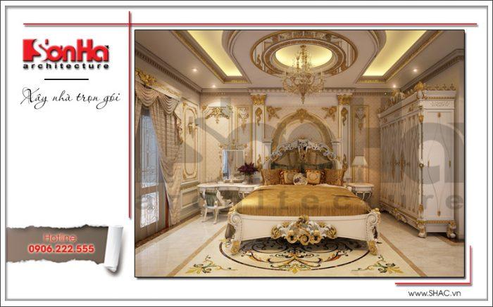 Mẫu Thiết kế nội thất phòng ngủ đẹp biệt thự lâu đài tại Hà Nội sh btld 0030