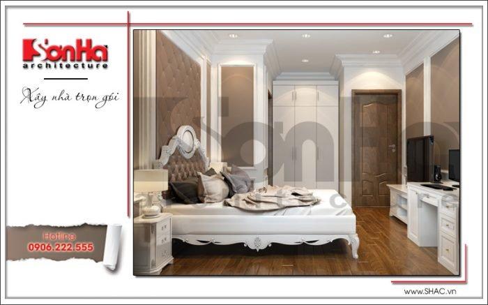 Thiết kế phòng ngủ 3 biệt thự 3 tầng tại khu đô thị Vinhomes Nam Thăng Long, Hà Nội