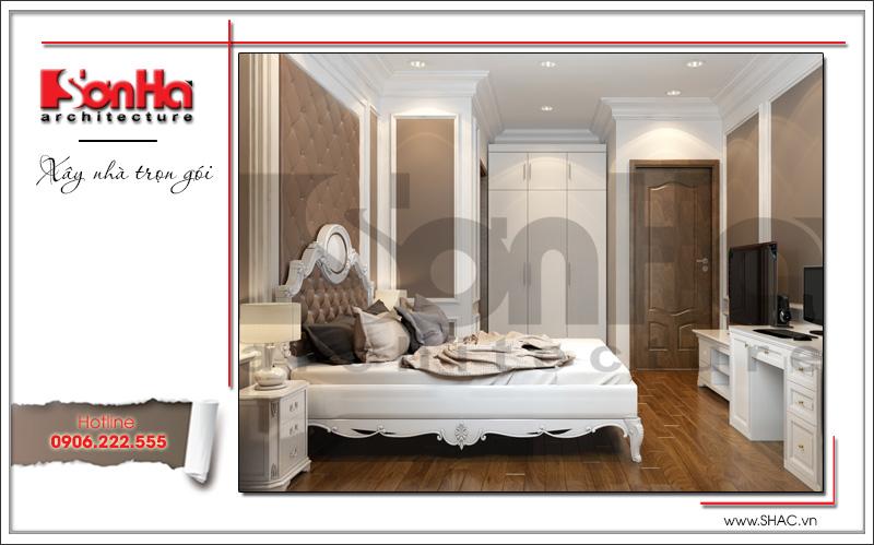 thiết kế nội thất phòng ngủ biệt thự kiểu cổ điển tại hà nội