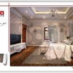 Thiết kế nội thất phòng ngủ biệt thự cổ điển Pháp tại Quảng Ninh sh btp 0113