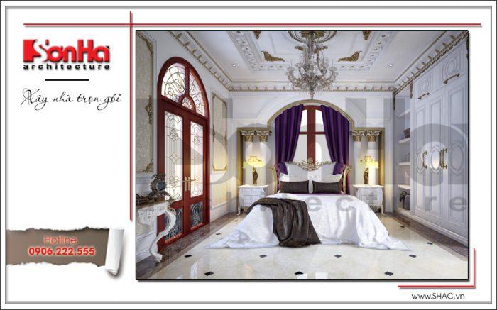 Thiết kế nội thất phòng ngủ biệt thự lâu đài tại Hà Nội sh btld 0030